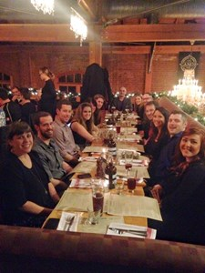 The Tellwell team year-end dinner with some local craft beer to get the evening started.